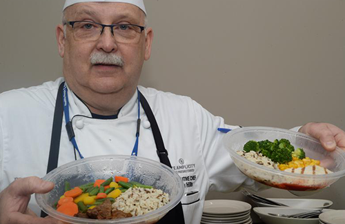 chef showcases steamplicity meals