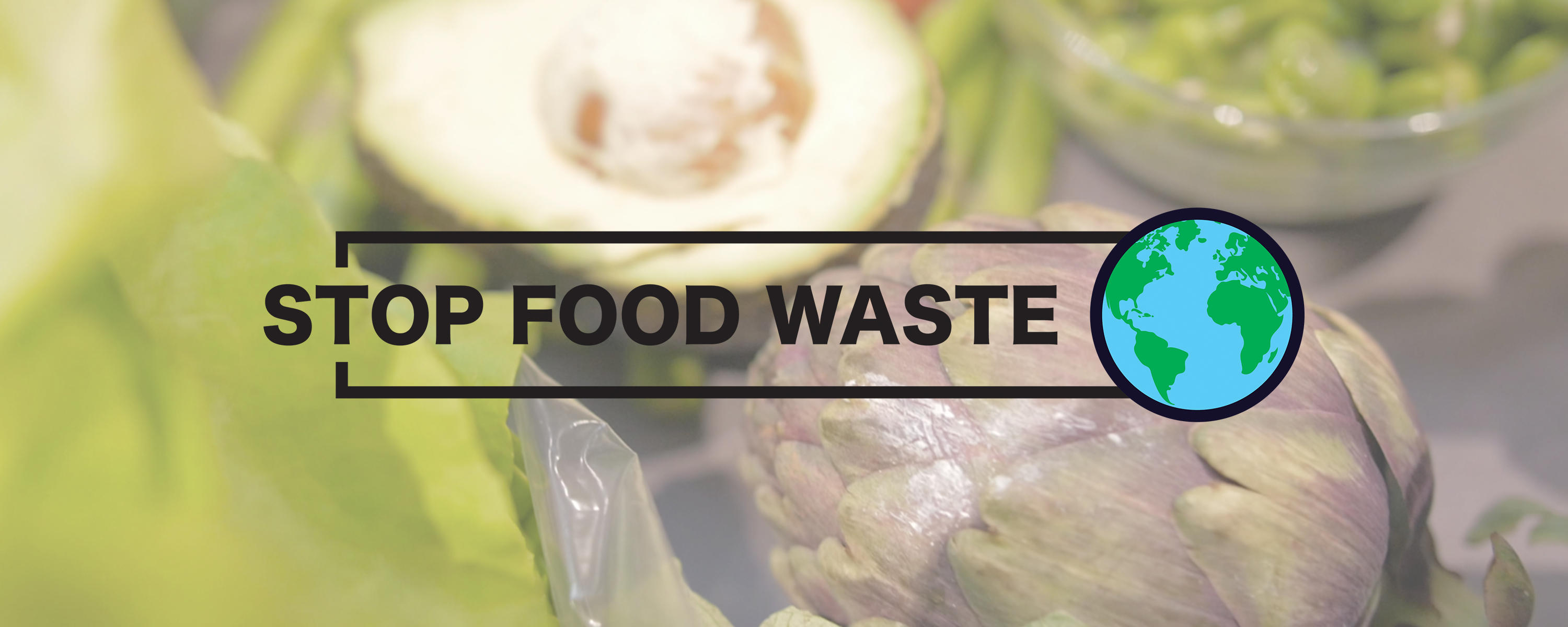 stop food waste day logo over picture of vegetables