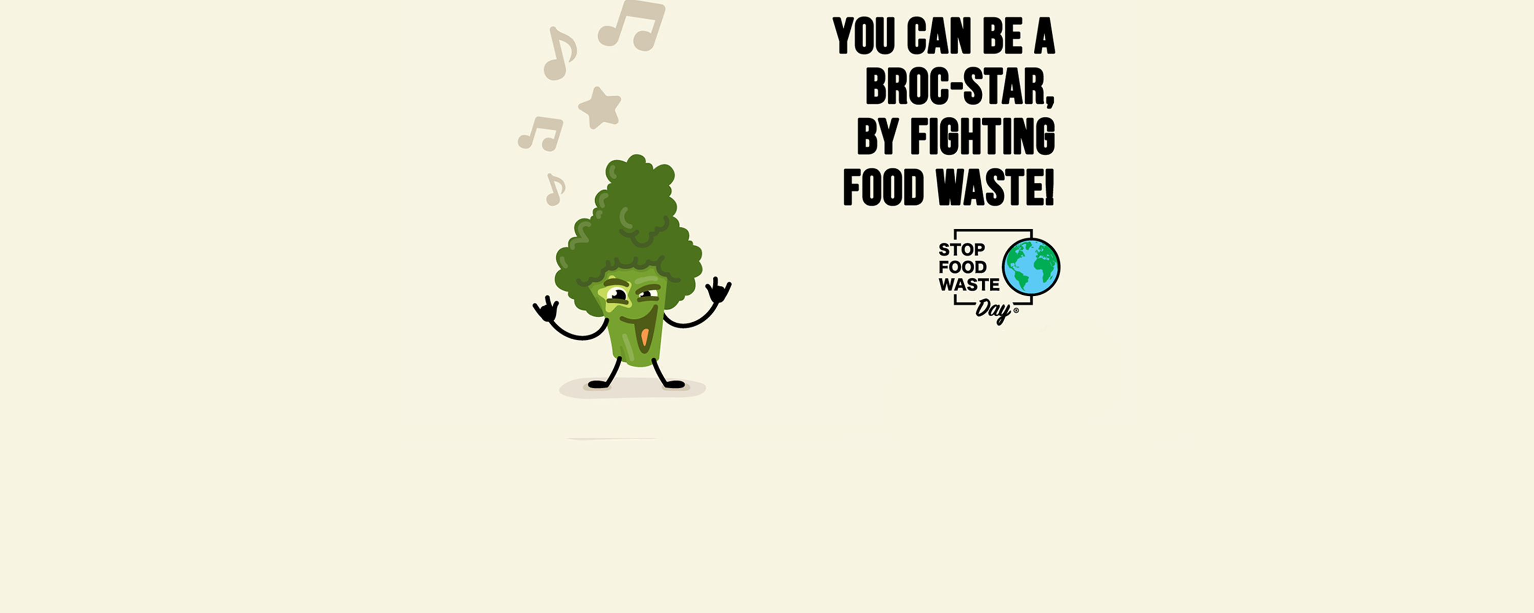 you can be a broc-star, by fighting food waste