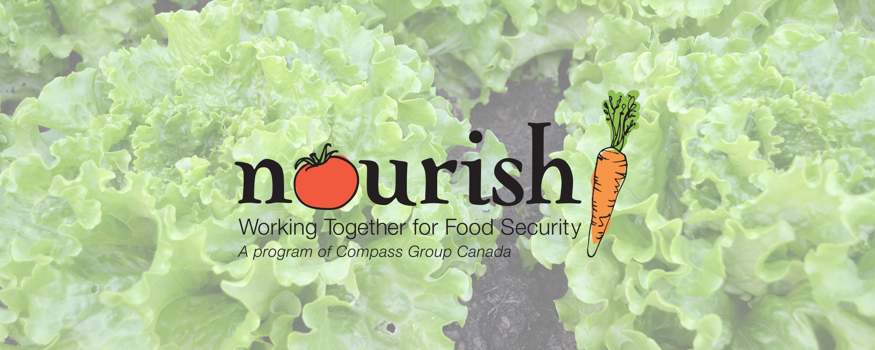 nourish: working together for food security, a program of Compass Group Canada